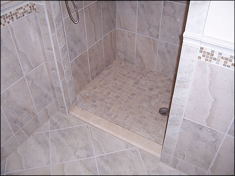Use Of A Standard Sill To Transition The Tile Ez Barrier Free Td Pan To The Adjacent Bathroom Floor Also Allows A Practical Low Entry For Homes That Do Not